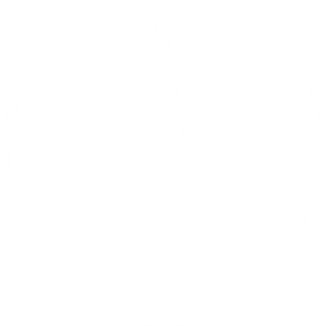mercedes logo white